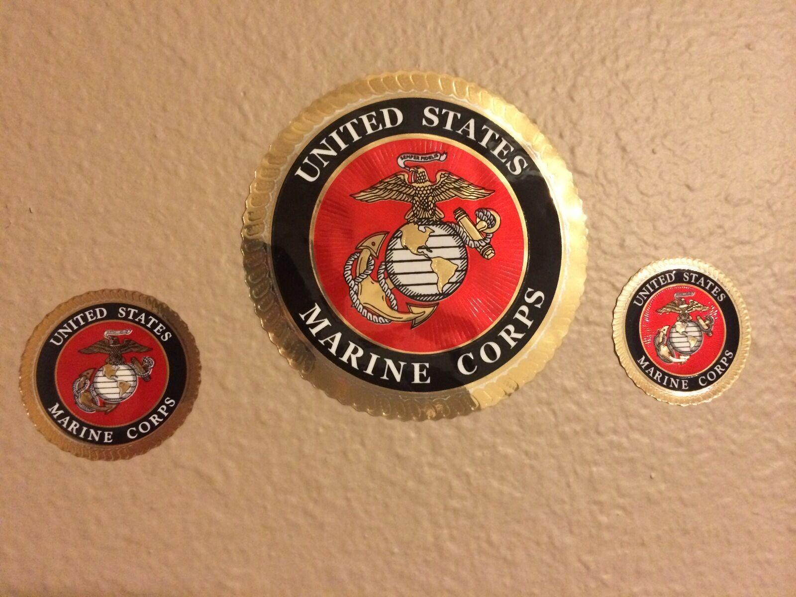 USMC Combat Veteran Hard Hat / Helmet Sticker Decal Label Emblem