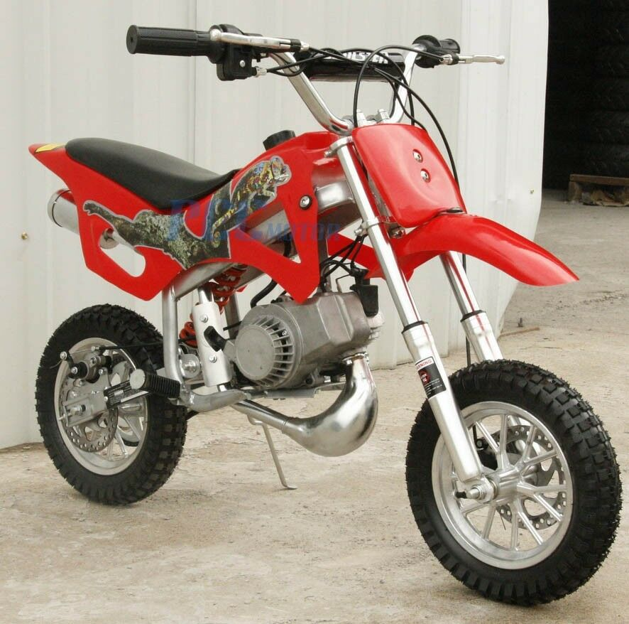 Kids 49cc 2 Stroke Motor Mini Bike Dirt Pocket Bike Red H Db49a Ebay