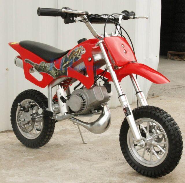 kids 49cc 2 stroke motor mini bike dirt pocket bike red h. Black Bedroom Furniture Sets. Home Design Ideas