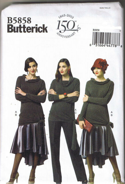 Butterick Patterns B5858 Misses\' Top Skirt and Pants Sewing Template ...