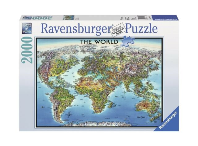 Ravensburger mountain canoes jigsaw puzzle 2000 piece unopened ebay ravensburger world map jigsaw puzzle 2000 piece free shipping gumiabroncs Gallery
