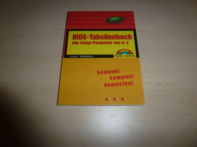 BIOS-Tabellenbuch von Klaus Dembowski (2005, Taschenbuch)