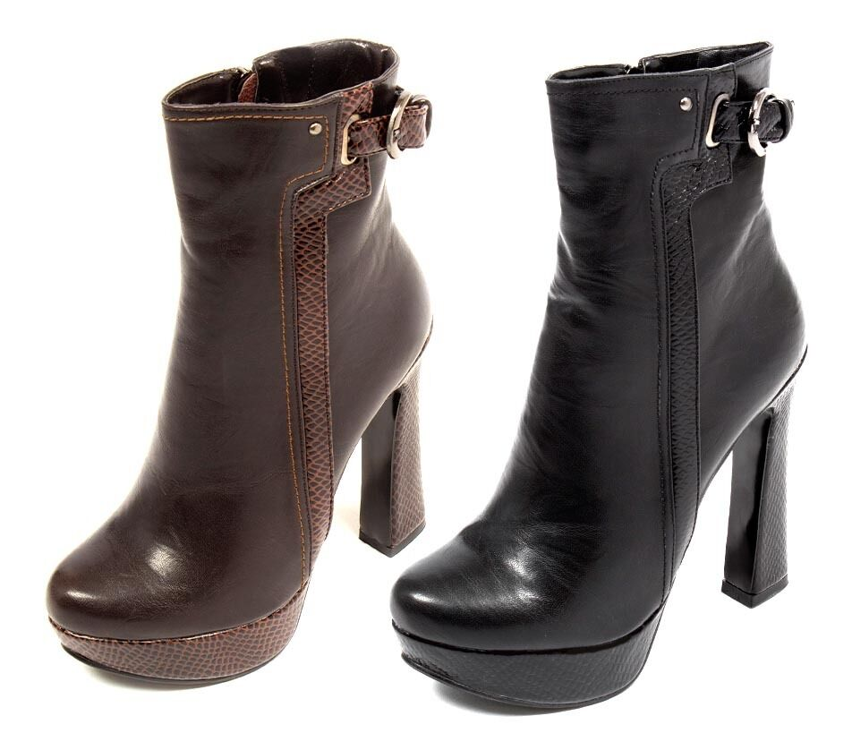 WOMENS LADIES HIGH HEEL BUCKLE STRAP CHELSEA PARTY ANKLE BOOTS CASUAL SHOES