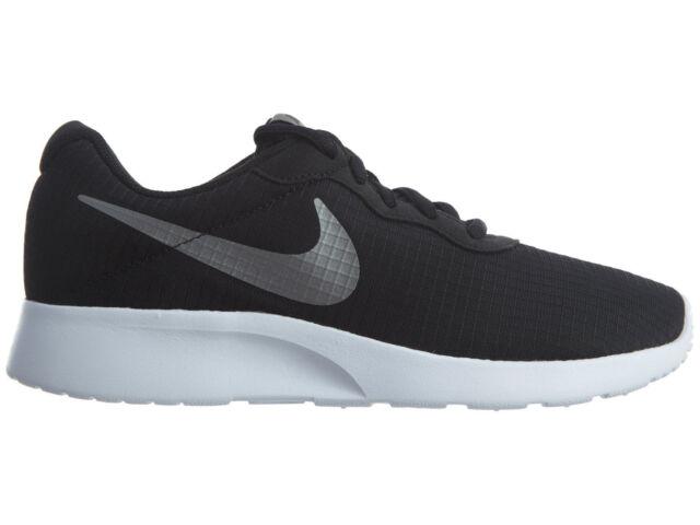 New Women's Nike TANJUN SE Black/MTLC Pewter-White 844908 002 Fast Shipping