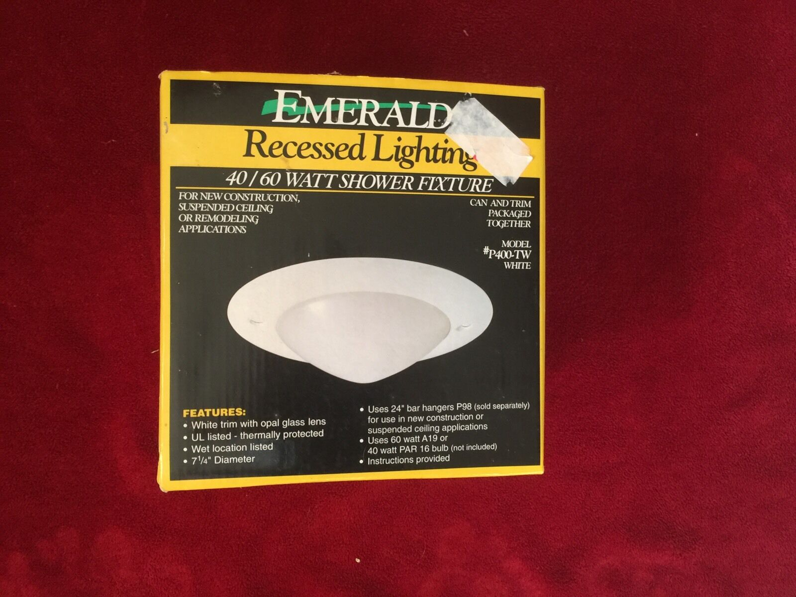 Emerald 4060 watt shower recessed lighting fixture p400tw ebay picture 1 of 1 aloadofball Image collections