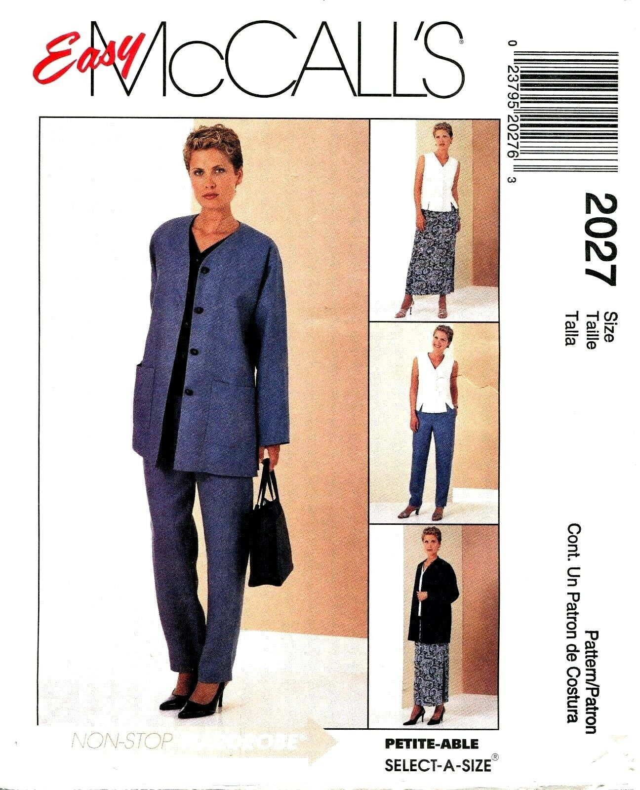 Mccalls 2027 misses easy cardigan top pants skirt sewing pattern picture 1 of 2 jeuxipadfo Images
