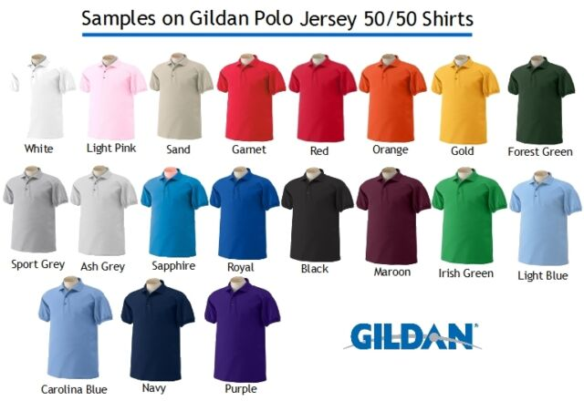 50 Custom Embroidered Logo Dry Blend Polo Shirts Embroidery