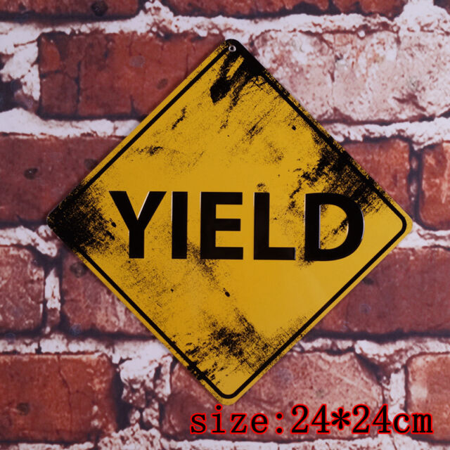 Yield Vintage Metal Tin Signs Atique Road Poster Retro Street Plaque ...