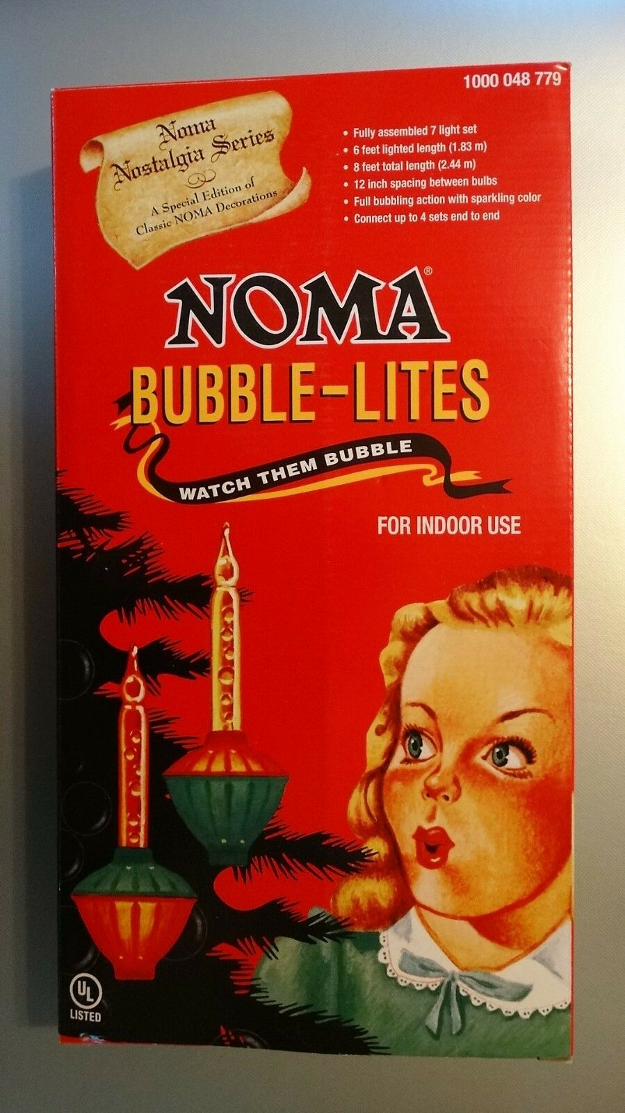 NOMA Bubble Lite Set of 7 Vintage Special Edition Christmas Lights ...