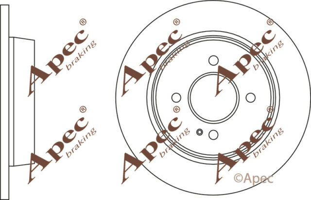 REAR BRAKE DISCS (PAIR) FOR KIA RIO GENUINE APEC DSK2924