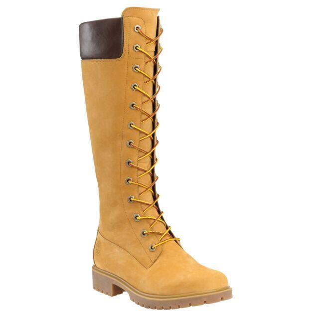 Timberland Women's 14-Inch Premium Side-Zip Lace Waterproof 8633A Wheat