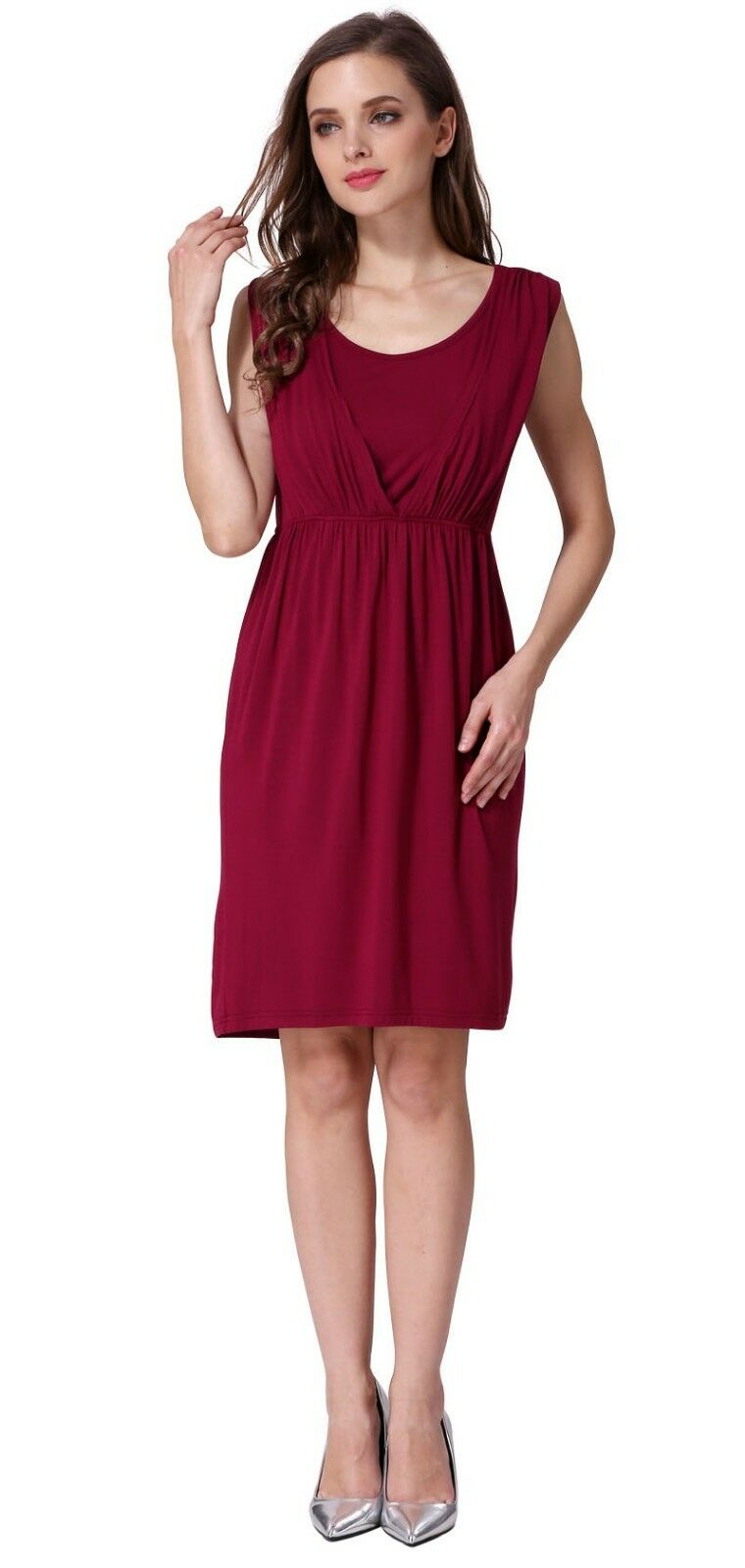 Short sleeve maternity clothes modal summer breastfeeding dresses picture 13 of 13 ombrellifo Image collections