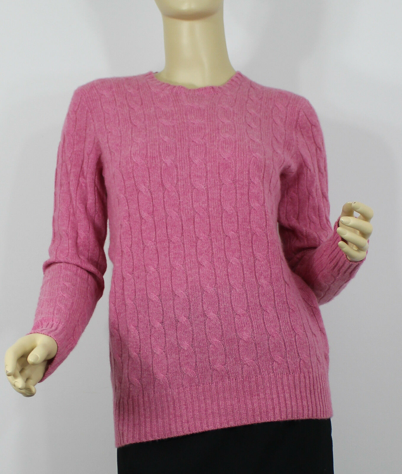 Ralph Lauren Polo Cashmere Sweater Womens Large Pink Cable Knit | eBay