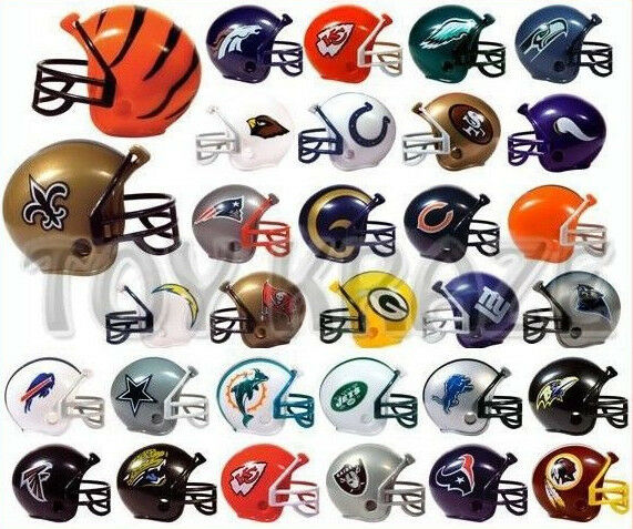 NFL Collectible Mini Football Helmet Set Complete 32 Teams Gumball Heads  eBay