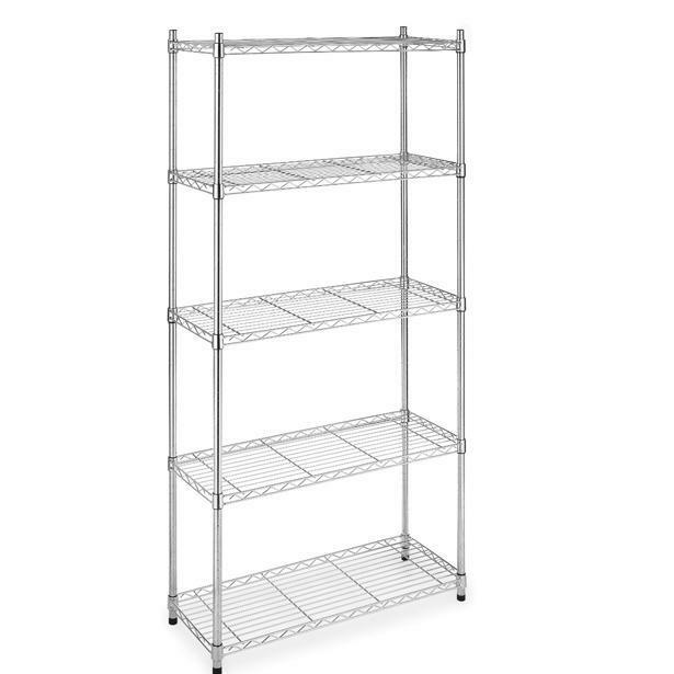 5 Shelf Home-Style Chrome Steel Wire Shelving 36 by 14 by 72-Inch ...