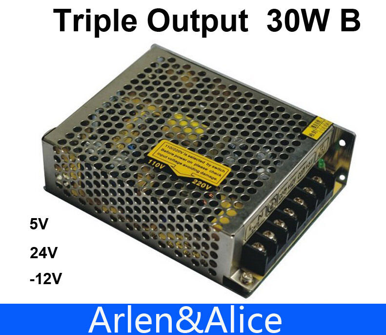 30w Triple Output 5v 24v -12v Switching Power Supply SMPS AC to DC ...