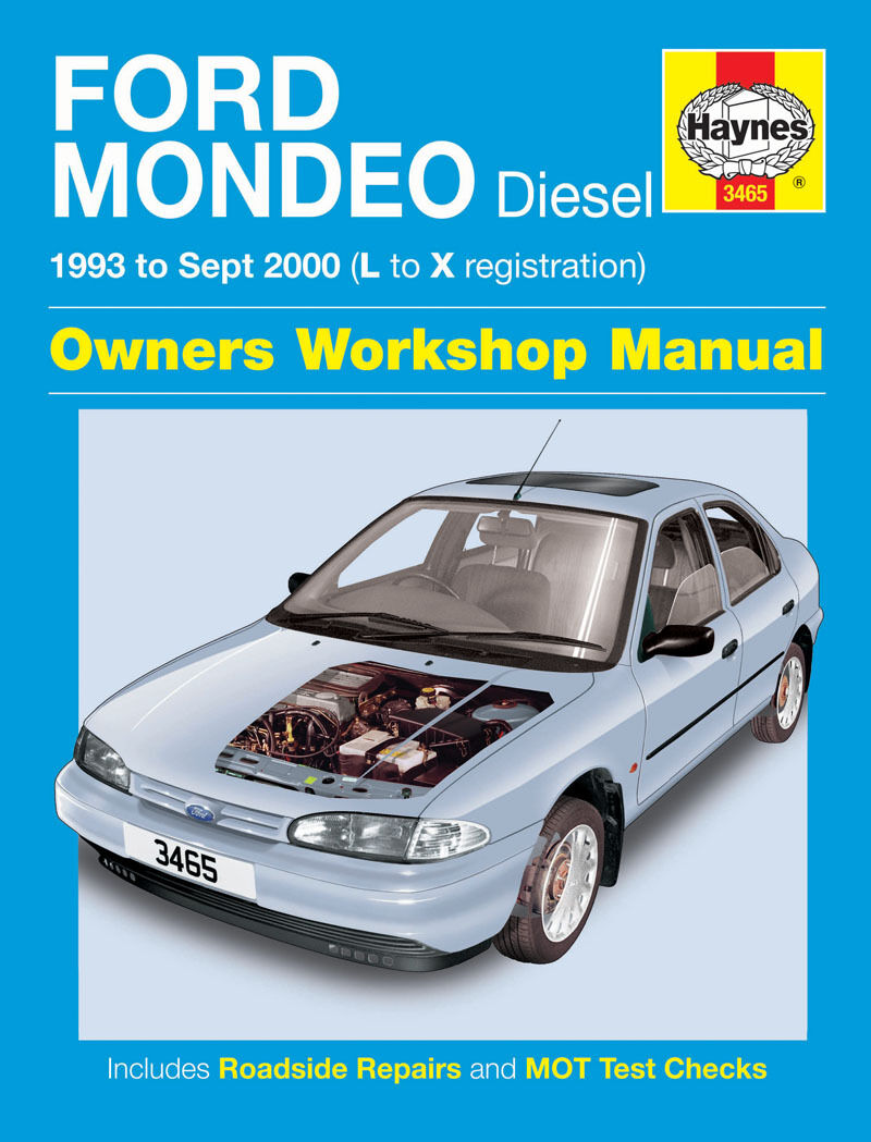 Stock photo. Stock photo; 3465 Haynes Ford Mondeo Diesel (1993 - Sept 2000)  L to X Workshop Manual ...