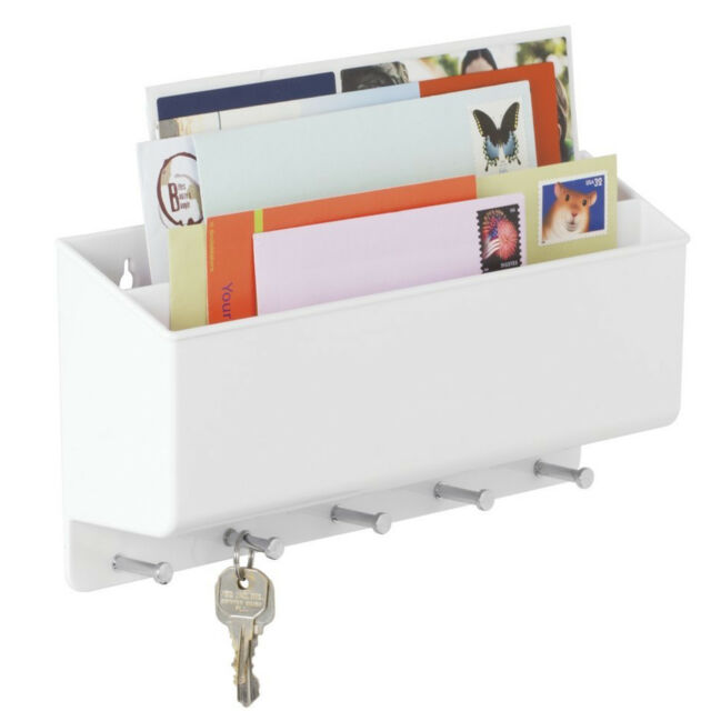 Mail Letter Holder Key Rack Wooden Wall Mounted Kitchen Entryway ...