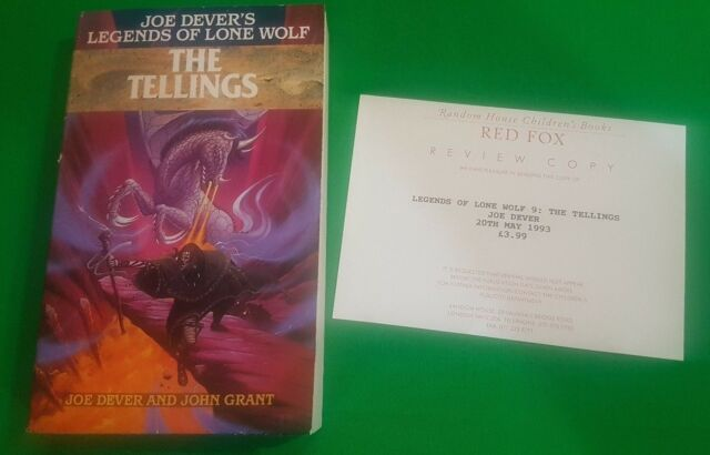 The Tellings **VGC REVIEW COPY!!** Joe Dever Legends of Lone Wolf Arrow Books #3