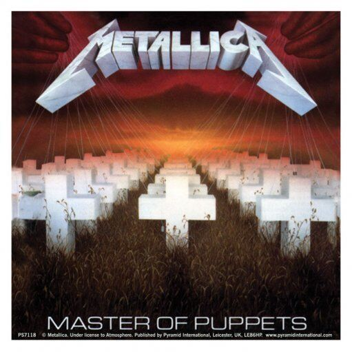 METALLICA - Master of Puppets Aufkleber Sticker - 9,5 x 9,5cm
