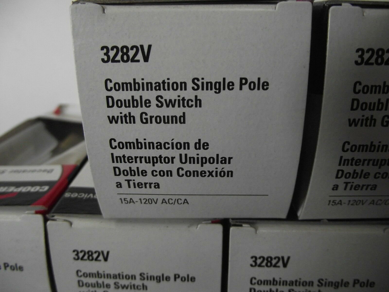 Cooper Wiring Devices 3282v Ivory Combination Sp Double Switch W Single Pole Brand New Lowest Price