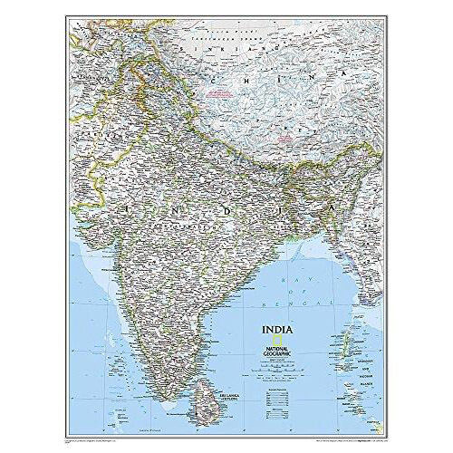 National geographic reference map india classic laminated by 1599 gumiabroncs Gallery