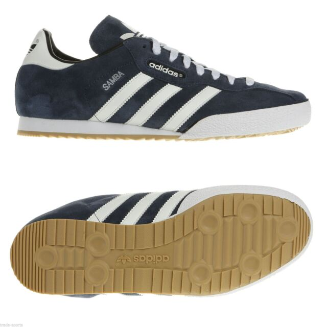 56298581e788c4 adidas Samba Super Suede Shoes Retro Sneaker Navy White 019332 Handball  Smith UK 8.5
