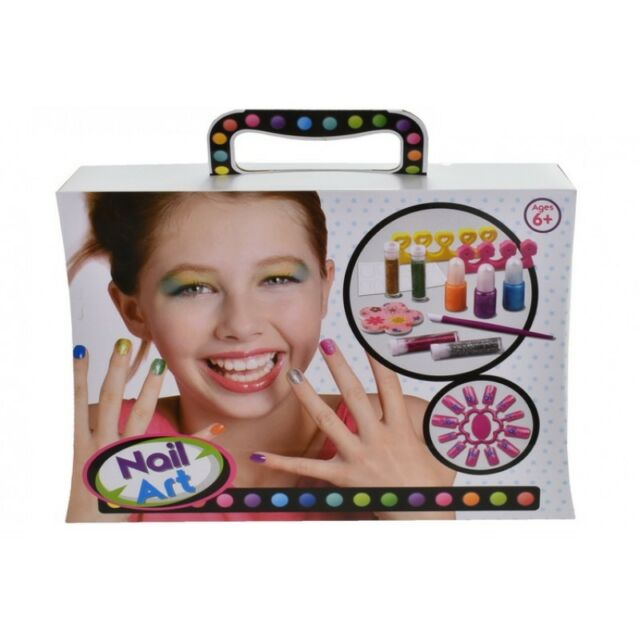 Girls first nail art set 12 pce in carry case childrens christmas girls first nail art set 12 pce in carry case childrens christmas toy new prinsesfo Gallery