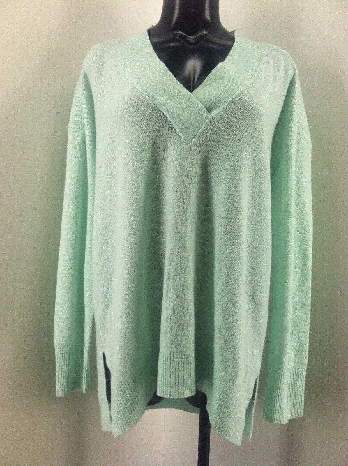 Halogen Green 100 Cashmere Sweater Women's Size M | eBay