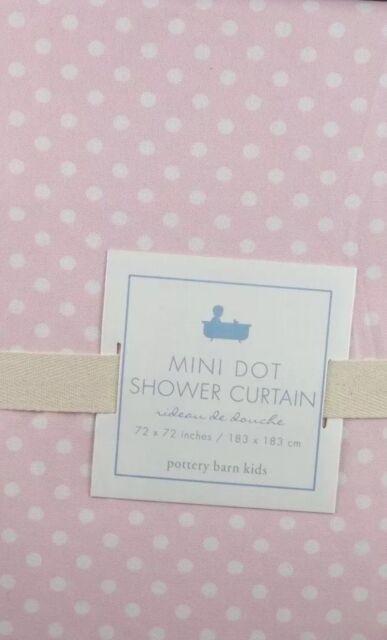 Pottery Barn Kids Mini Polka Dot Dottie Bathroom Bath Shower Curtain ...
