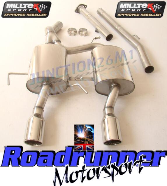 Milltek Clio 182 Exhaust System Stainless Cat Back Non Res & De Cat Louder 03-06