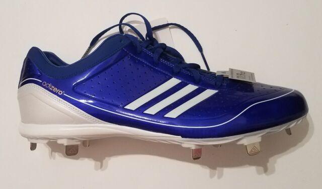 Adidas adizero Diamond King Low Baseball Cleats Shoes Blue Men's Size 13 New