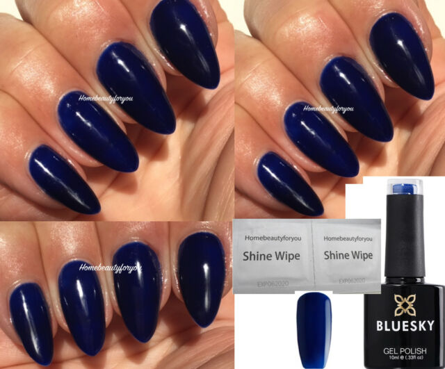 GEL Polish Nails by Bluesky Shiny Asphalt 10ml   eBay