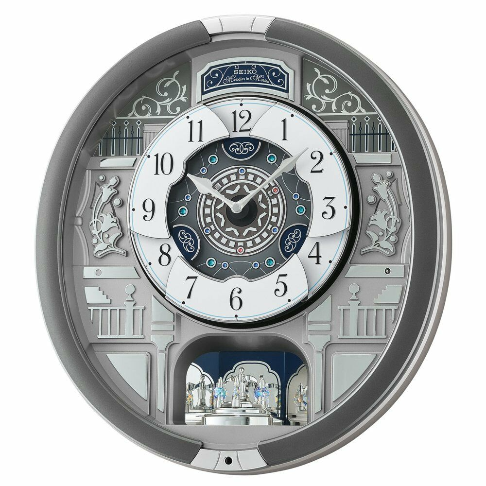 Seiko qxm366srh melodies in motion pendulum wall clock ebay picture 1 of 1 amipublicfo Choice Image