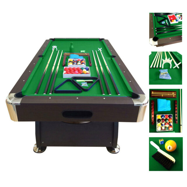 7\u0027 Feet Billiard Pool Table Snooker Full Set Accessories Game mod. Green Season  sc 1 st  eBay & 7\u0027 Feet Billiard Pool Table Snooker Full Set Accessories Game Mod ...