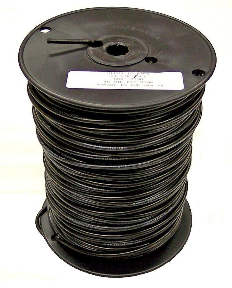 14 Gauge Wire for Underground Hidden Dog Fence 1000 Ft. Spool 45 Mil ...