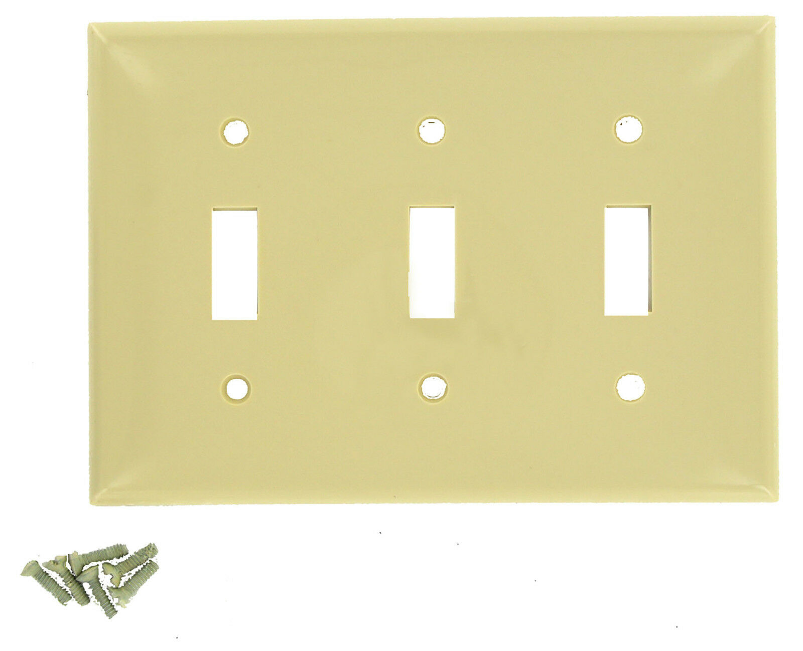 10 Leviton 80711-i 80711I Triple Wall Switch Plate Ivory Nyl 3g | eBay