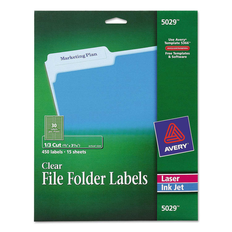 avery dennison ave 5029 filing label 0 66 width x 3 43 length ebay