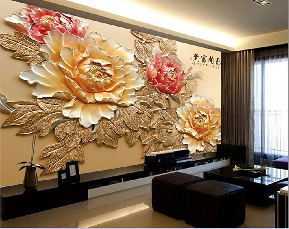 Wallpaper 3d Bedroom Mural Roll Modern Luxury Embossed Background