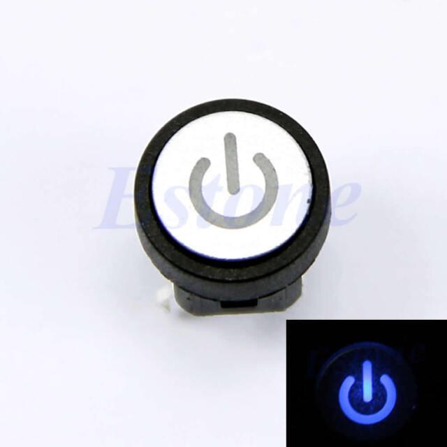 LED Light Power Symbol Momentary Latching Computer Case Switch Push ...