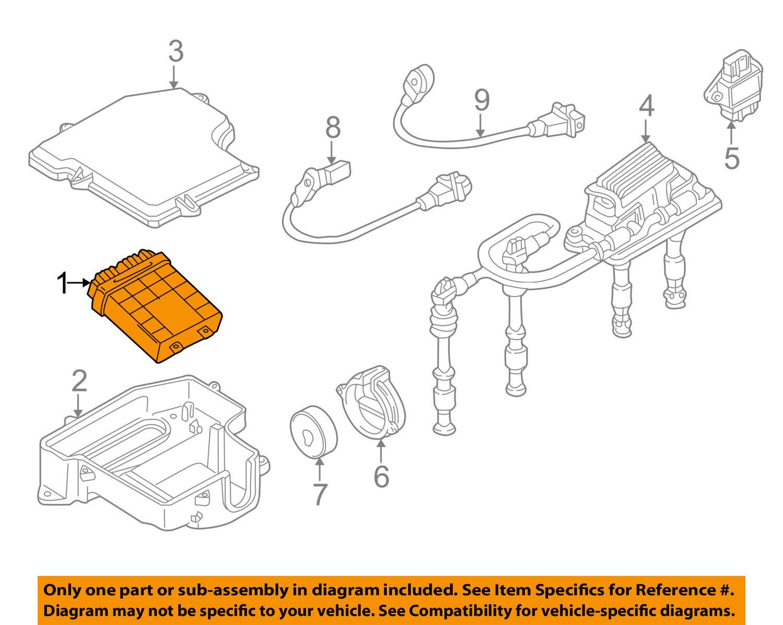 98-00 VW Volkswagen PASSAT AUDI A4 1.8l Engine Control Module ECU ...