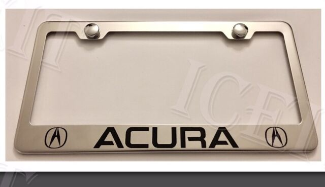 Acura Stainless Steel License Plate Frame Rust W Bolt Caps EBay - Acura license plate
