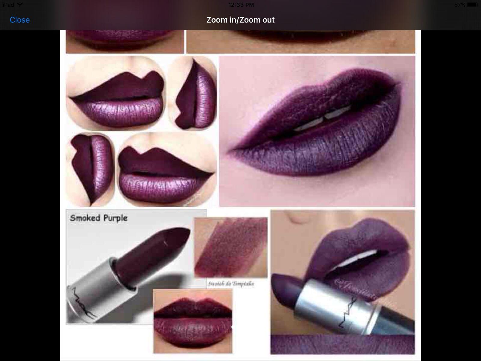 Connu Mac Matte Lipstick Smoked Purple - 100 Authentic | eBay ZU51