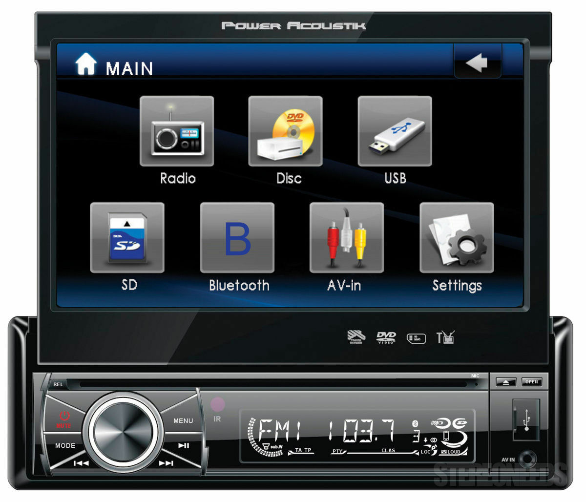 s l1600 power acoustik video in dash units without gps ebay soundstream vr-931nb wire harness at bayanpartner.co
