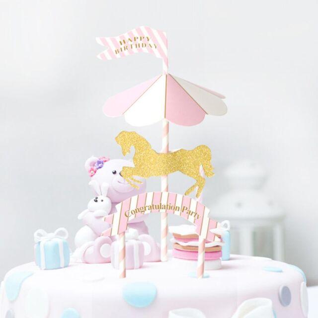 Bunting Cupcake Banner Picks Decoration Birthday Cake Topper Insert