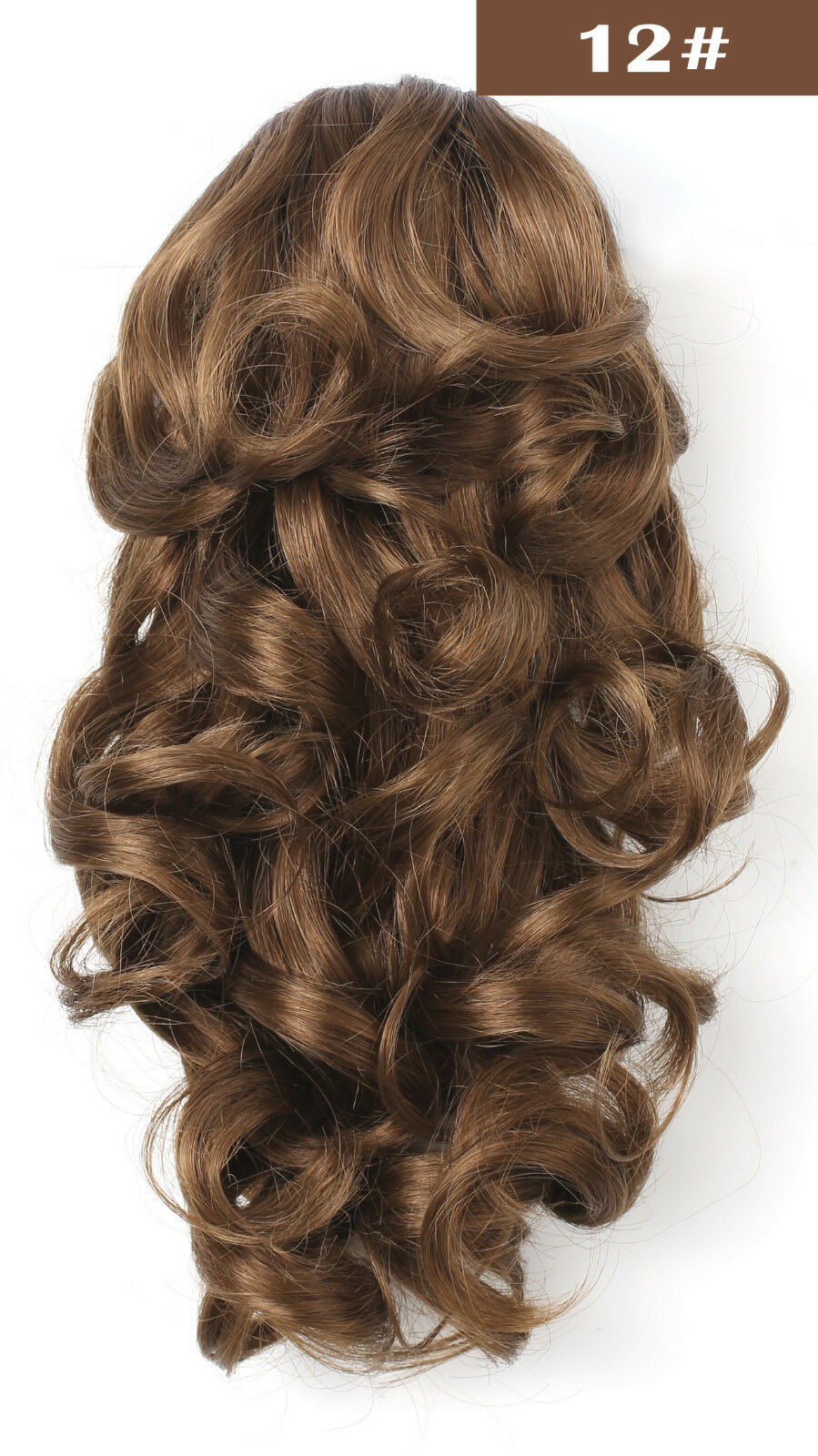 Onedor 12 Inch Jaw Claw Clip Wavy Ponytail Hair Extensions Light