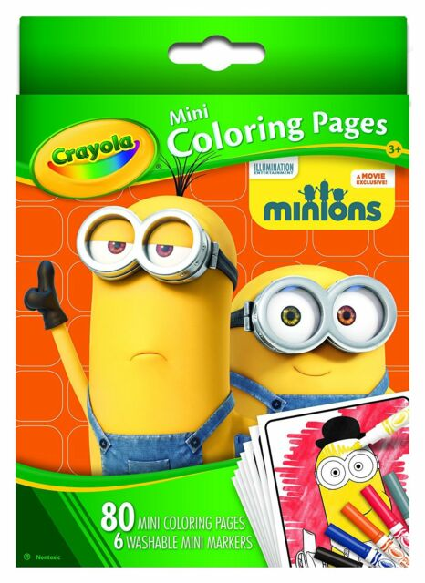 Crayola Mini Colouring Pages Minions 80 Pageswith 6 Mini Markers