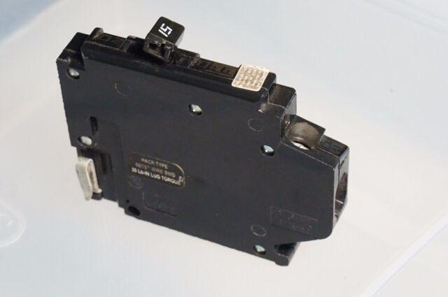 Crouse Hinds Mh115l 1 Pole 15 Amp 120 Volt Circuit Breaker Left Hook ...