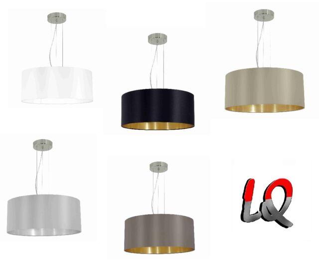 Eglo Maserlo Hängelampe Pendelleuchte Lampe Leuchte Stoff Textil ohne / mit LED