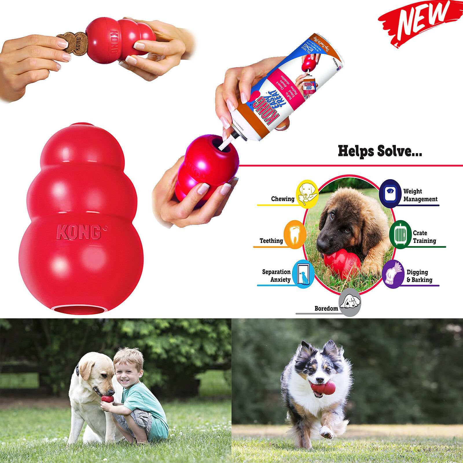 KONG Classic Dog Toy Red 5 Sizes Xx large